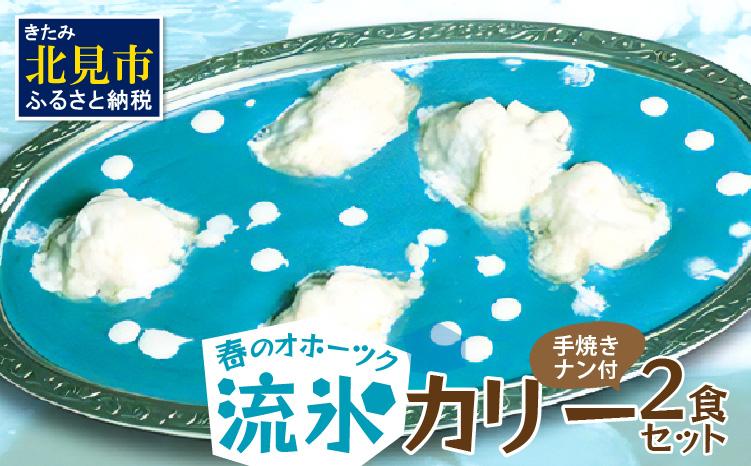 【Z9-005】クリシュナ 春のオホーツク流氷カリー2食セット 手焼きナン付