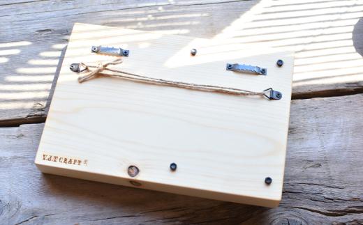 40-88 白木のウェディングウッドプレート(写真縦型)