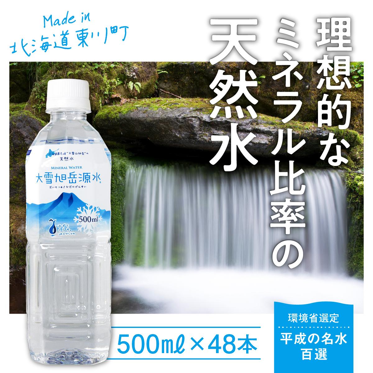 水と暮らすまちから大雪の天然水「大雪旭岳源水」500mL×48本【10001019】