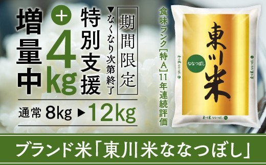 数量限定特別支援!東川米「ななつぼし」12kg【21001019】