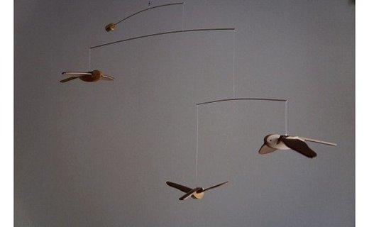 「鳥たちの空」シマエナガモビール〈3羽組〉【10007003】