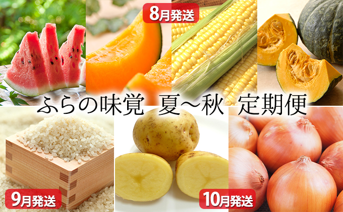 ふらの味覚 夏~秋野菜 定期便セット