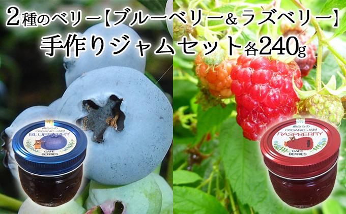 2種のベリー【ブルーベリー&ラズベリー】手作りジャムセット各240g