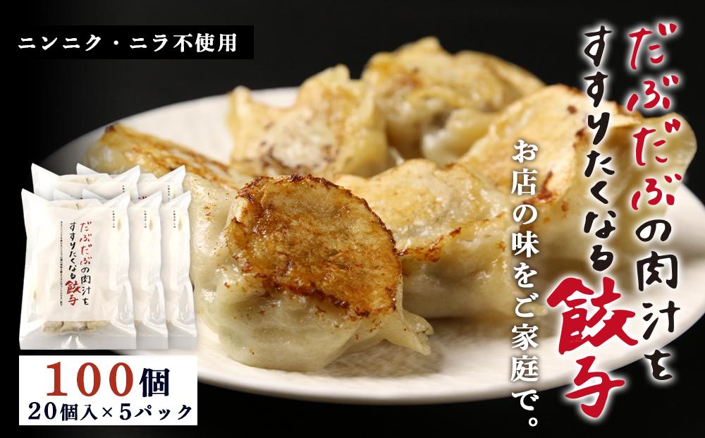 BE004 だぶだぶの肉汁をすすりたくなる餃子 100個(20個入×5パック)
