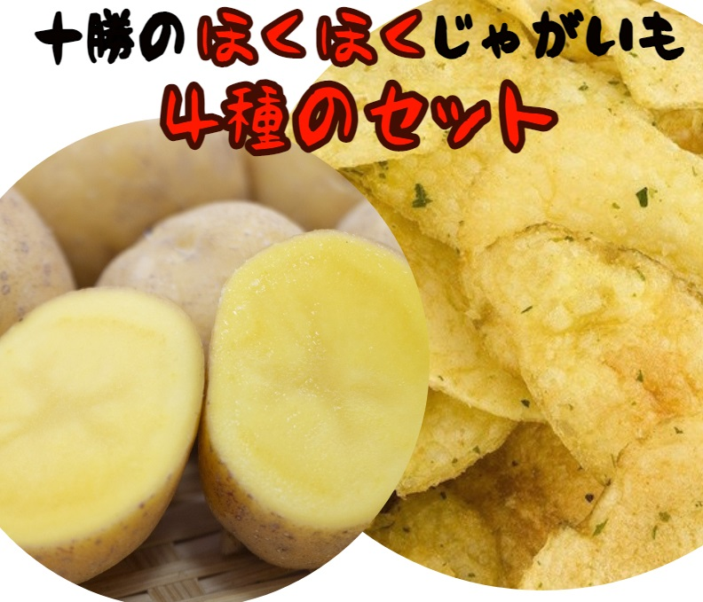 十勝・中札内村のほくほくじゃがいも4種セット[J1-2]