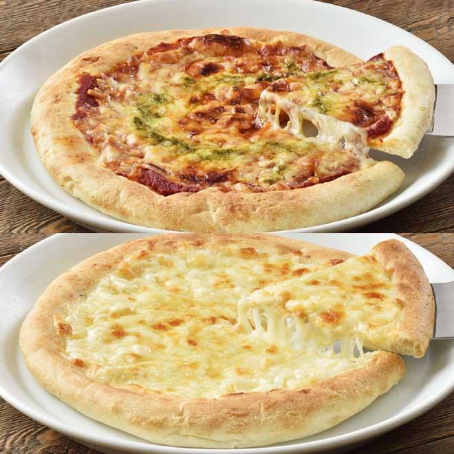 花畑牧場 自家製チーズのピッツァ2種セット(マルゲリータ200g×3枚、クアトロ200g×3枚)[P1-20]