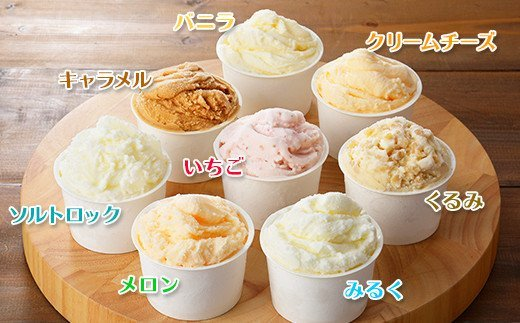 481.北海道 アイスクリーム ジェラート 食べ比べ 8個 アイス 定番 おすすめ B セット 手作り 弟子屈町