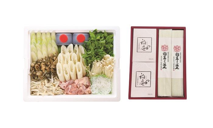 D4502 秋田名物きりたんぽ鍋(5人前)と稲庭うどんセット