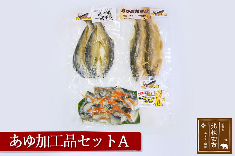 あゆ加工品セットA あゆ酒粕漬け あゆの開き あゆずし 一夜干し 寿司