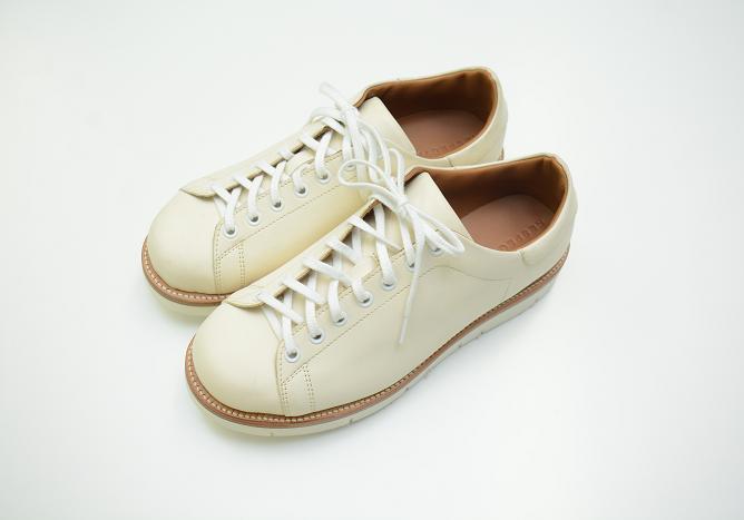 MS−1レザースニーカー【ホワイト】(メンズ・レディース)