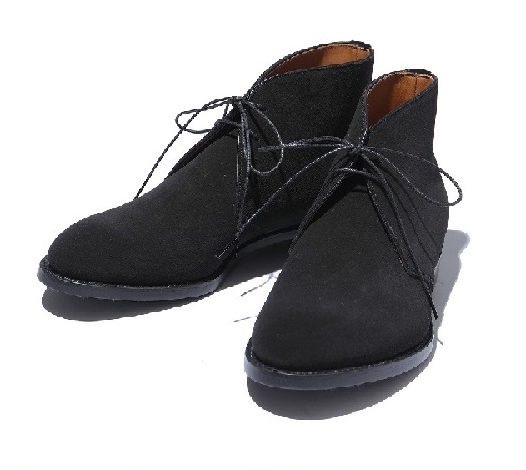 【ファクトリエ コラボ商品】シンプルで合わせやすいチャッカブーツ(ブラック)