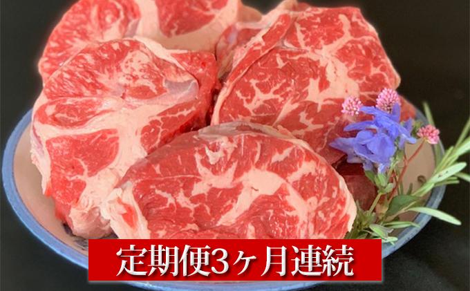【定期便】【国産】牛スネ肉500g×2 3ヶ月連続お届け