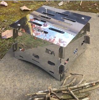 【ステンレス製】組み立て式コンパクト焚き火台 BBQ キャンプ用品 アウトドア用品