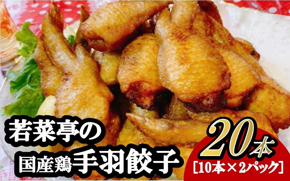 【緊急コロナ支援品】若菜亭の「手羽先餃子」20本セット(国産) ※生冷凍