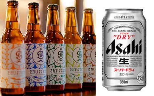 さかい河岸ブルワリー境町産クラフト地ビール&アサヒスーパードライ 飲み比べセット