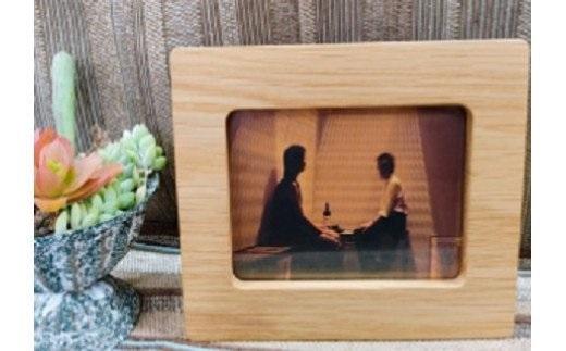 【数量限定】経年変化を楽しめる木製フォトフレーム【オーク材使用】