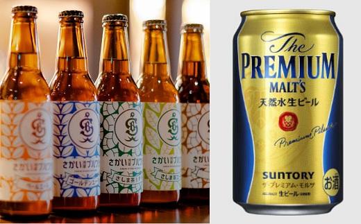 さかい河岸ブルワリー境町産クラフト地ビール&サントリー ザ・プレミアム・モルツ 飲み比べセット