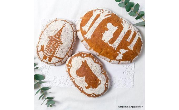MOOMIN ライ麦入りフランスパン 3柄セット