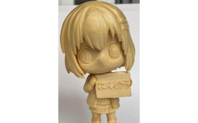 ヤマノススメ 木彫り人形 あおい