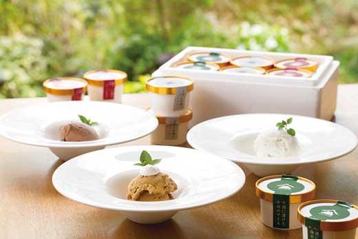 干柿アイスや大吟醸のシャーベットなど、贅沢な大人のアイス 3種の味が楽しめるバラエティセット 6個入り