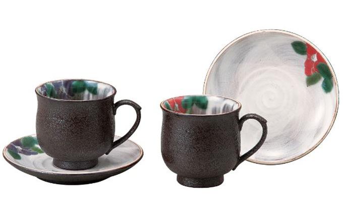 ペアコーヒー・椿 青良窯