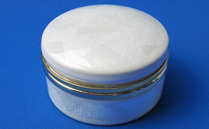 九谷焼オルゴール 銀彩(白)