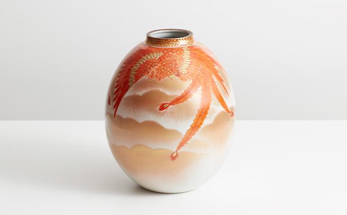 7.5号花瓶・赤絵鳳凰紋 福田良則