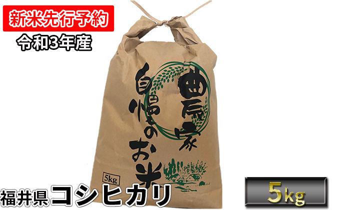 【令和3年産 新米先行受付】 福井県若狭町コシヒカリ(1等米)5kg