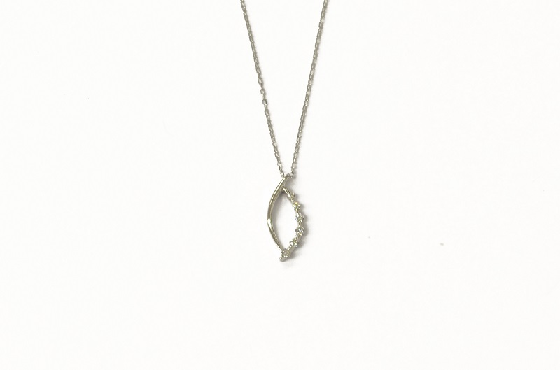 K10WG ダイヤモンドリングネックレスセット