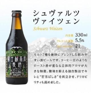 【富士河口湖地ビール】富士桜高原麦酒(シュヴァルツヴァイツェン8本セット)