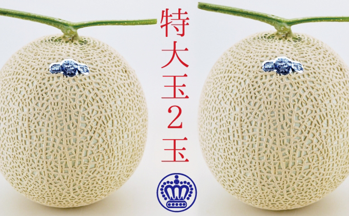 クラウンメロン白等級特大玉 2玉入【お歳暮対応】