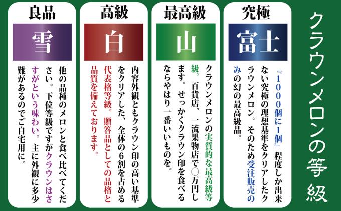 """【6ヶ月定期便】クラウンメロン""""名人メロン""""1玉"""