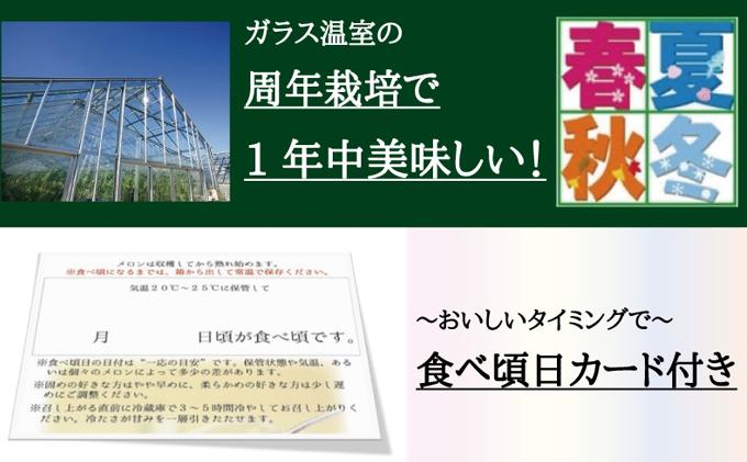 """【6ヶ月定期便】クラウンメロン""""極メロン""""1玉 桐箱入り"""