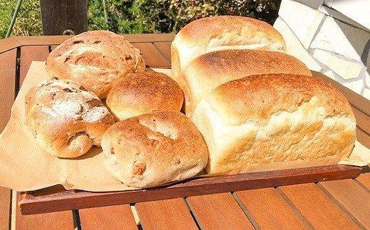 国産小麦・天然酵母 乳卵バター不使用 石窯焼きパンセット H069-005