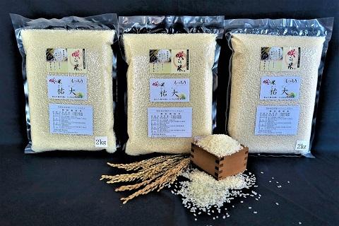 【令和3年産 新米】農場限定のお米 もっちもち「佑大」6㎏ ・K043