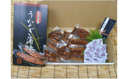 M010三河一色産大サイズうなぎ蒲焼8尾(蒲焼パック冷凍8尾)