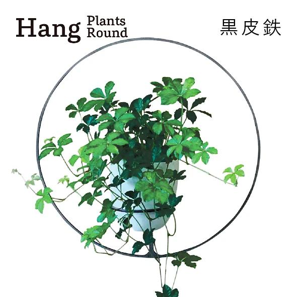 GRAVIRoN Hang Plants シリーズ Round 黒皮鉄(プランツハンガー)
