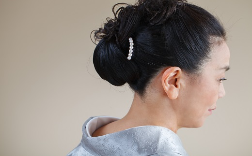 【140-05】こだわりの逸品、志摩市産アコヤ真珠のかんざし*