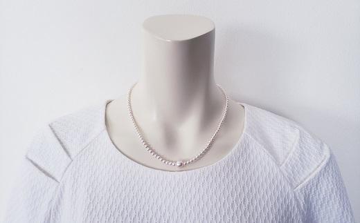 【175-04】ピンク色に輝くベビーパールデザインネックレス*
