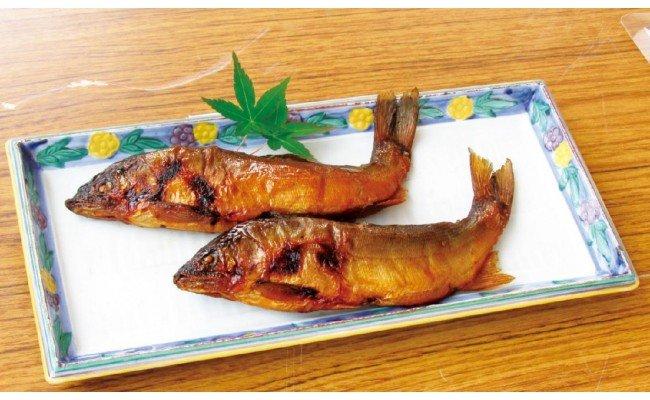 MN01 料亭の鮎の甘露煮と地元産山菜佃煮セットA