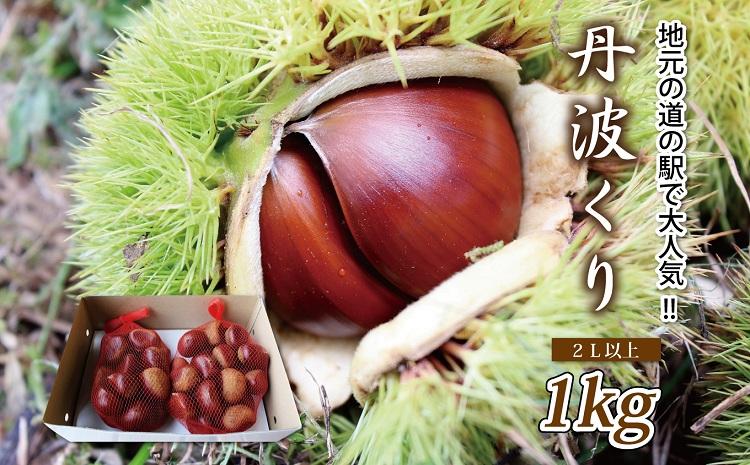 京都・京丹波町産 丹波くり 1kg(数量限定・道の駅で大人気の丹波栗)