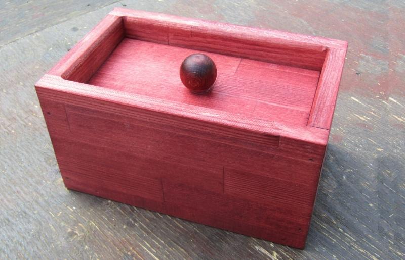 099H294 手作り木製 マスクストッカー(マホガニー)