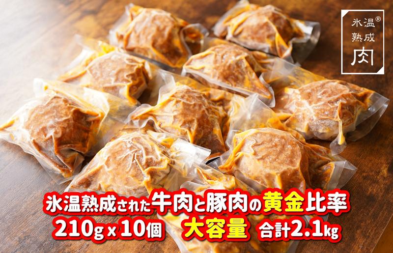 010B740 氷温(R)熟成肉 黄金比率煮込みハンバーグ 210g×10個(合計2.1kg)