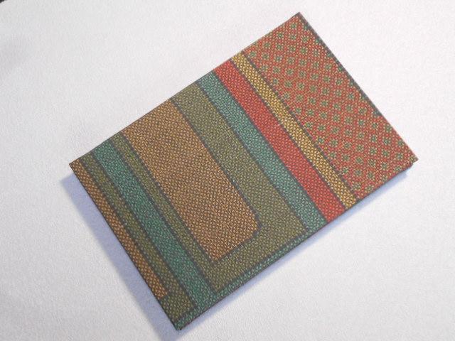 005A245 おしゃれな朱印帳(正絹本場大島紬使用) レトロブラウン