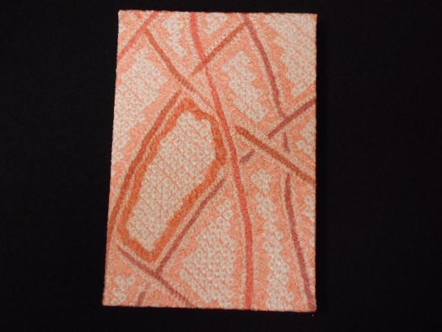 005A255 おしゃれな朱印帳(正絹着物生地使用) さくらピンク