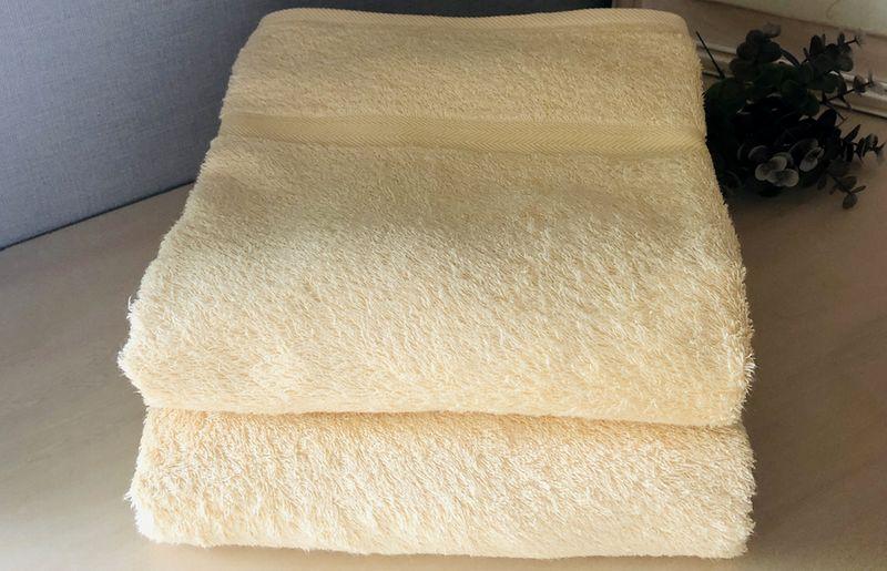 010B810 天然染めコーマカラーバスタオル2枚セット(麦芽) 泉州タオル