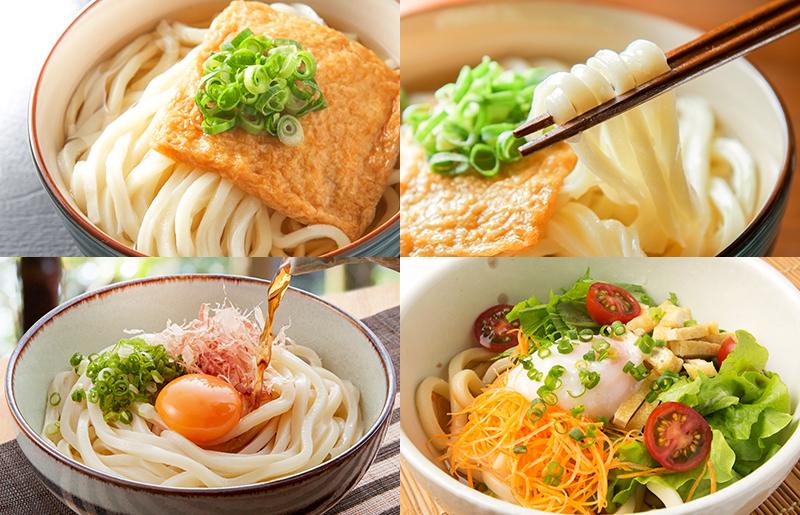 005A303 人気の冷凍うどん2種類セット 麺名人 きつねうどん(3食)、なにわうどん( 5玉)