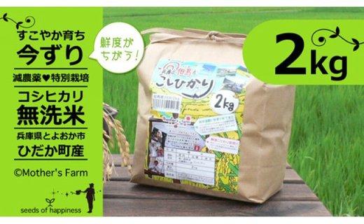 【新米】お米 2kg(白米)今ずり・無洗米 令和2年産 コシヒカリ 兵庫県但馬産