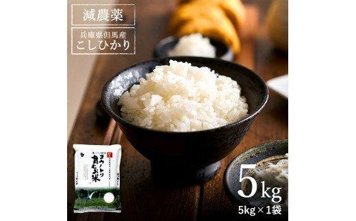 コウノトリ育むお米減農薬 【5kg×1袋】(94-004)