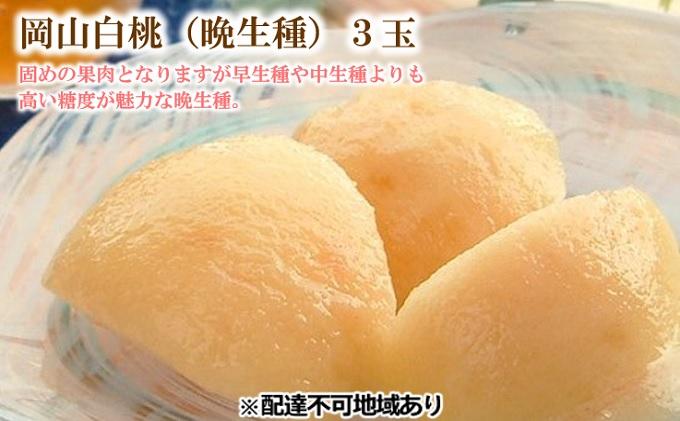 ●先行予約●桃茂実苑 岡山 白桃(晩生種)3玉